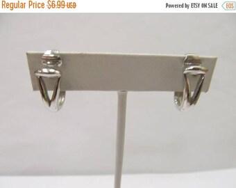 ON SALE TRIFARI Silver Tone Hoop Earrings Item K # 2648