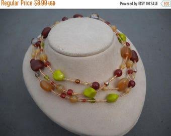 ON SALE Handmade Glass Necklace Item K # 1326