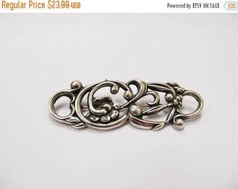 ON SALE Vintage Sterling Silver Floral Pin Item K # 2909