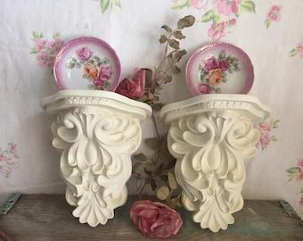 Vintage Sconce Shelves - Farmhouse Decor - wall sconce shelves - Wall shelves - Shabby Cottage Chic