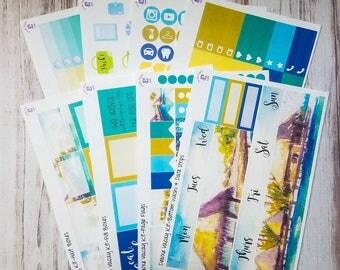 Vacay full sticker kit for the Erin Condren vertical life planner