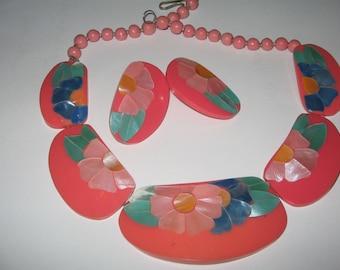 1980s Miami Vice Look Necklace Costume Vintage Jewelry #e391