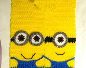 Crochet Minion scarf