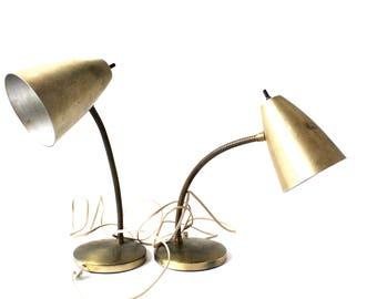 Pair of Vintage Mid-Century Modern Desk Lamps