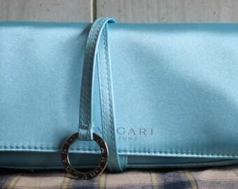 Bulgari Clutch - Makeup Case - Tiffany Blue - Collectibles - Evening Bag - Handbags - Bulgari Perfume - Cosmetic Storage