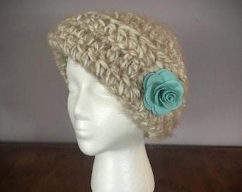 Ladies Crocheted Flapper Hat, Ladies Crocheted Hat, Ladies Flapper Hat, Chemo Hat
