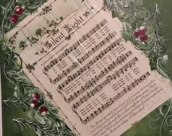 Painted Personalized Sheet Music