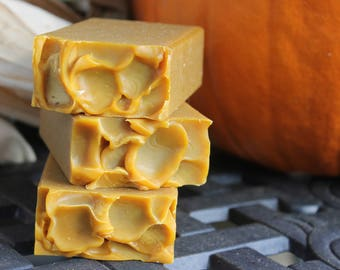 on sale | PUMPKIN CREAM SOAP | Cold Process Soap | Bar Soap | Spiced Pumpkin | Handmade Soap | Soap Gifts | Bar Soap | Pumpkin Spice Scent