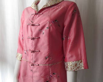 Asian Inspired Pink Silk jacket