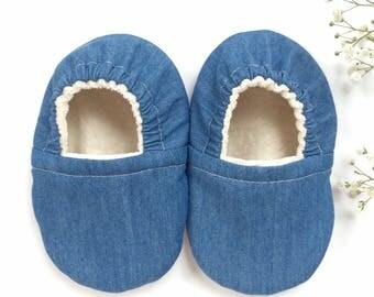 Denim Soft Sole Vegan Baby Shoes