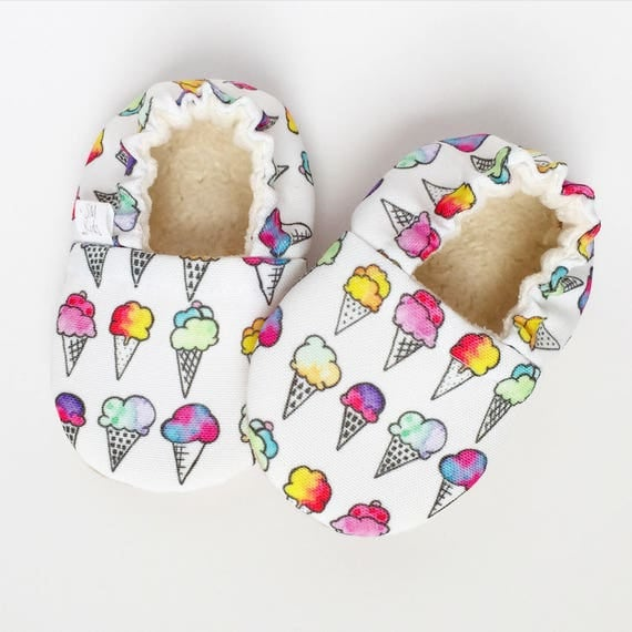 Ice Cream Cone Vegan Organic Baby Shoes