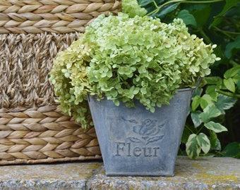 Dried Hydrangea Rustic Flower Arrangement, French Country Cottage, Sage Green Hydrangea, Farmhouse Wedding Flowers, Centerpiece