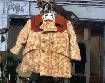 Vintage 1950's Child's Wool Coat