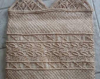 Straw Macrame Handbag