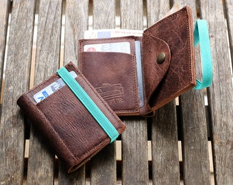 Men's leather Wallet - Mens Wallet - Leather Wallet - Minimalist Wallet - Brown leather Wallet