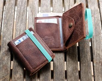 Men's leather Wallet - Mens Wallet - Leather Wallet - Minimalist Wallet - Brown leather Wallet