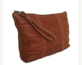 ON SALE Brown Leather Handbag, Women Trendy Bag, Medium Pouch Bags, Letty
