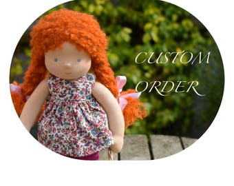 "Waldorf Doll 14"" custom made"
