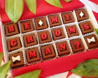 Groomsman Proposal - Be My Groomsman Chocolates - Groomsman Gift