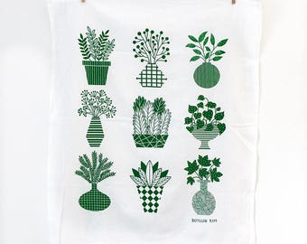 Plants Tea Towel