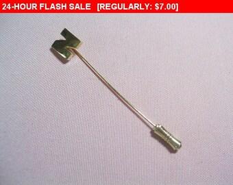 vintage Crown Trifari initial pin brooch, vintage pin brooch