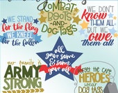 Military Hero Clipart Set -Personal and Limited Commercial Use- Cute and Honorable Military Clip Art