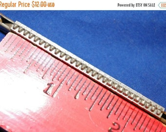 ON SALE Rack of 28 Metal Letters u, t, v Type from a Vintage 1940s Hand Set Printing Press
