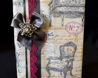Chic Antique A5 Covered Journal Vintage Victorian Decor Furniture