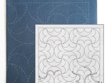 Sashiko Kit | Olympus Sashiko Embroidery Pattern,  Traditional Japanese Design Sashiko Pillow Sampler -HanMaru (H2038)