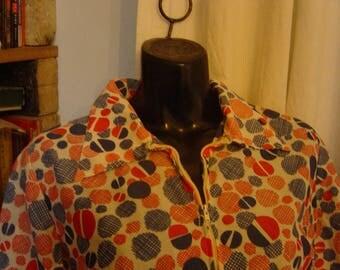 Vintage 1970's 1980's Housecoat Over Dress Domestic Goddess 12-14
