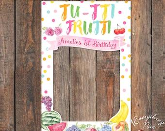 "Tutti Frutti Pastel 24"" x 36"" Photo Booth Frame Digital Download"