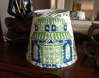 Lampshade Chinoiserie Teahouse Pagoda clip lampshade Asian theme
