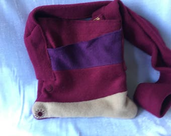 Felted Upcycled Scarf Bag