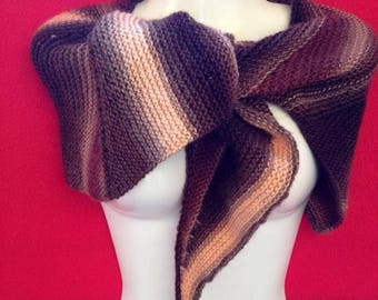 delicate hand knitted shawl scarf