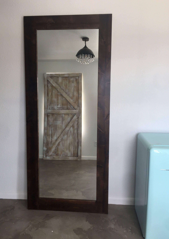 Mirror Framed Sliding Barn Door