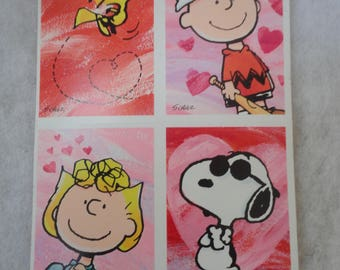 Vintage Unused Peanuts Valentines Day Card With Envelopes, Lucy, Charlie  Brown, Snoopy,