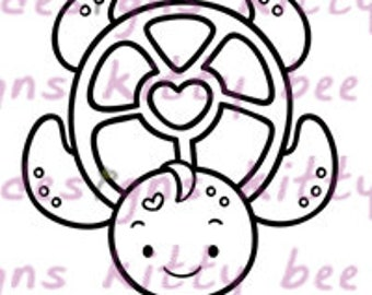 Honu  Love Digital Stamp