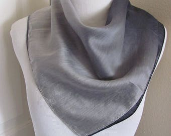 "Scarf Gray Soft Nylon Fashion Scarf 22"" Square - Affordable Scarves!!!"