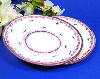 Two Early 19th Century Staffordshire Pink Luster Plates