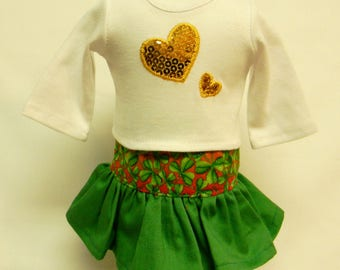 St Patricks Theme Outfit For 18 Inch Dolls Like The American Girl