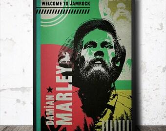 Damian Marley Reggae Music Pop Art Poster