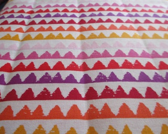 Quilting Weight Cotton Fabric Zipper  Stripe in Coral by Michael  Miller 1 yard
