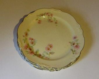 Homer laughlin virginia rose moss rose 4 dinner plates