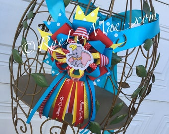 Baby Dumbo Corsage/Mommy-to-be corsage/Mommy-To-Be Pin/baby dumbo Theme Baby Shower/Baby Shower Corsage/disney baby/circus theme/belly sash