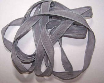 Gray/Hand Dyed Silk Ribbons/Sassy Silks/Charms/Jewelry Findings/Copper Wire/Leather Cord/End Caps/Bead Caps/JumpRings