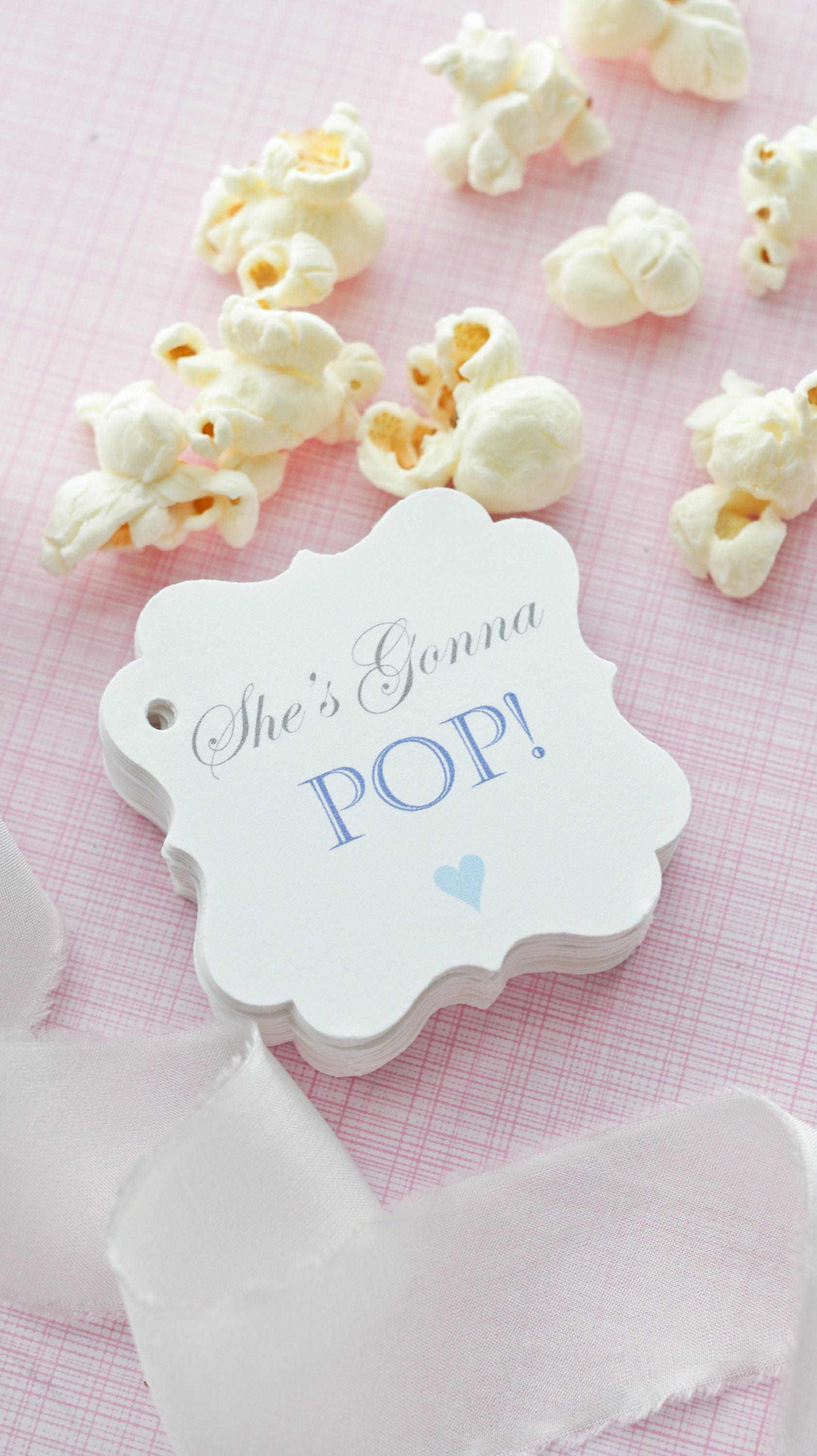 Baby Shower Popcorn Favor Tags Baby Shower Favor Tag Baby