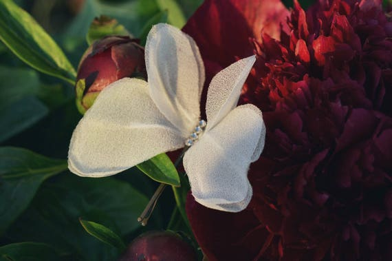 Silk Butterfly - Hair Pin