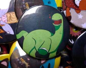 Dancing Dinosaur Button Badge