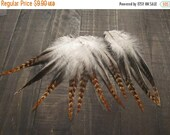 CLOSING OUT SALE 11 Ginger Variant Rooster Saddle Feathers ~ Cruelty Free