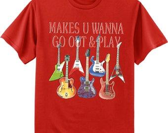 Guitar decal tee shirt